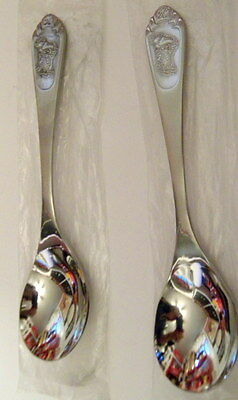 Lot 2 1983 Kelloggs Toucan Sam Stainless Spoons~Never Used~w Plastic Wrapper