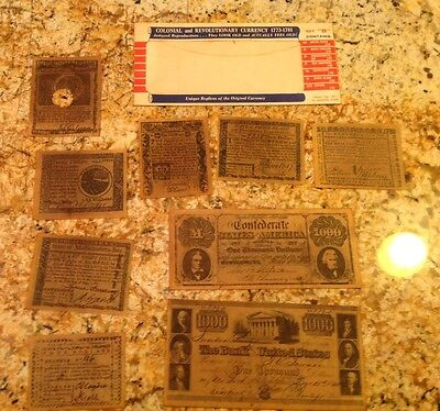 Colonial Revolutionary Currency Antiqued Reproductions 1773-1781 Complete Set +