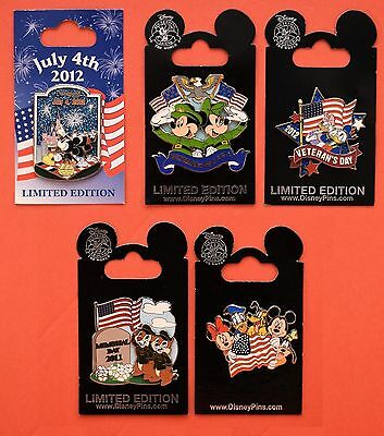 Disney Memorial Day 2011 Saluting The American Flag Chip & Dale, 5 Pin LE set