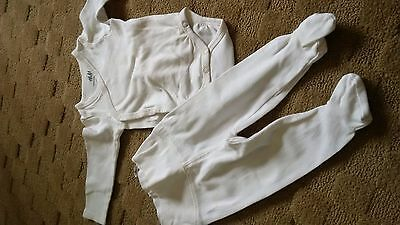 2-piece set in Organic Cotton from H&M, Size 1-2 Months EUC