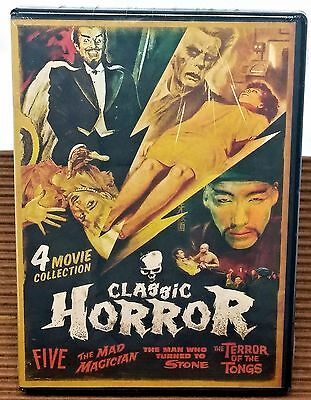 Horror 4 Movie Pack - Five, Mad Magician, Man Who Turned to Stone NEW & SEALED