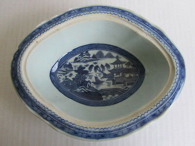 Antique Chinese Qing Dynasty Blue & White Porcelain Tureen(Soup Bowl)