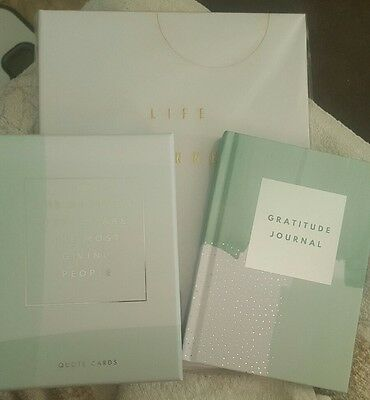 Kikki K Gratitude Journal, Quote Cards and Life Planner