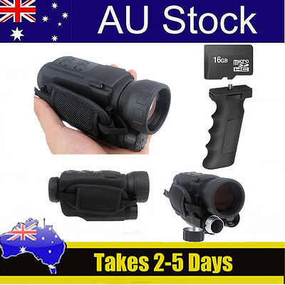 Monocular Night Vision Goggles Security DVR Cam IR Video Record+ 16GB SD+Holder