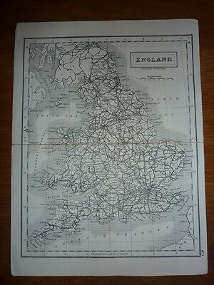Antique Map of England by Sidney Hall 1831