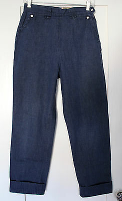 1950s 50s Vintage Lee Frontier Lady Western Country High Waisted Jeans Pants 27