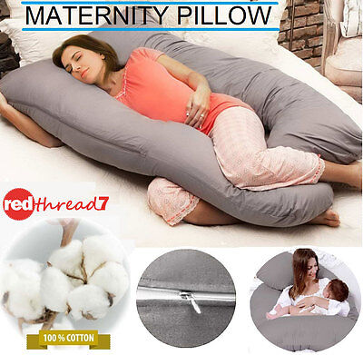 Maternity Pregnancy Baby Nursing Feeding Pillow Support Boyfriend Cushion Grey