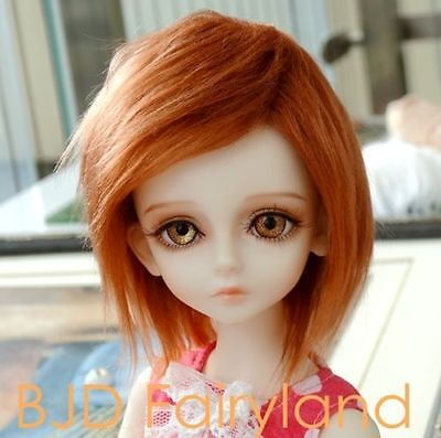 "7-8"" 7-8inch 18-19cm BJD doll wig red brown wig for 1/4 SD Dollfie antiskid"