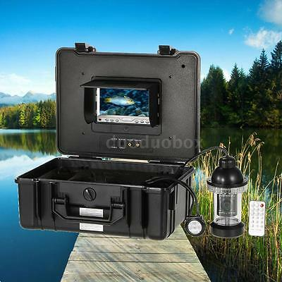"""Underwater Fishing Camera 7"""" LCD Color Monitor 650TVL CCD Fish Finder 2017 N7H9"""