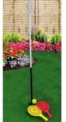 160Cm Swing Tennis Garden Game Set With 2 Plastic Rackets Family Bbq Party