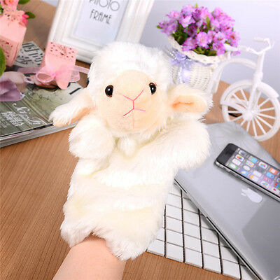 Soft Sheep Animal Hand Glove Puppet Plush Puppets Toys Kids Pretend Play Role