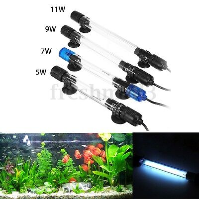 5/7/9/11W Aquarium UV Submersible Light Sterilizer Lamp For Disinfect Fish Tank