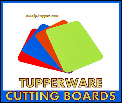 BNIP Tupperware NEW Chopping Cutting Mats Set of 4 Flexible Colour Coded