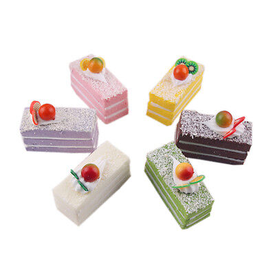 Fake Birthday Liftlike Cake Dessert Model Decor Shop Sample Display Props 1 PCS