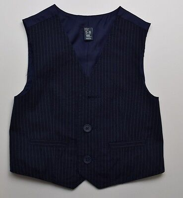 C15  Zara Kids Boys Striped Navy Waistcoat Age  5-6 Years