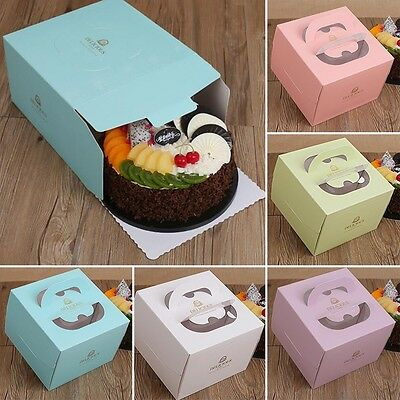 5pcs Mini Paper Favor Gift Candy Boxes Cake Style For Wedding Party Baby Shower