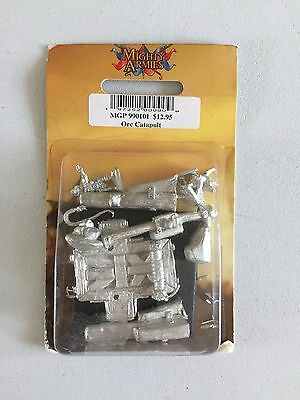 Mongoose Publishing Mighty Armies Orc Catapult Rock Lobber Warmaster Metal