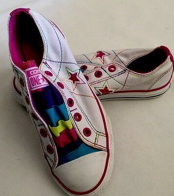 Girls Youth Converse All Star Multi Color Sneakers Shoes Size 1y