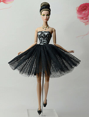 Lovely Fashion Black Dress/Clothes/Ballet Dress For 11.5in.Doll S532U
