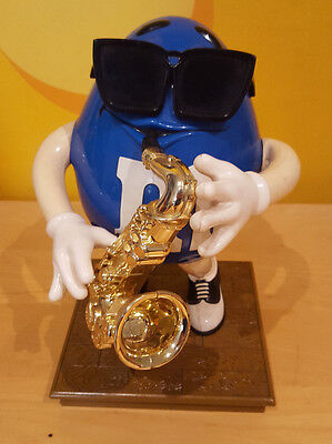 Collectable M&m Blue Sax Player Dispenser – Approx 24Cm Tall