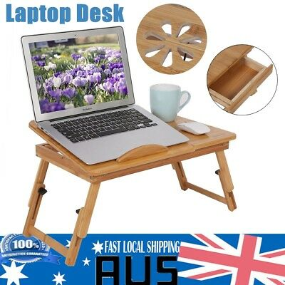 Bamboo Fold up Serving Tray Laptop Notebook Desk Bed Tea Coffee Table Stand TT