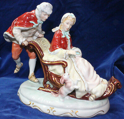 Rare Royal Dux Group Figurine Marked 1912 - 1938 Limited 1/60 Figure
