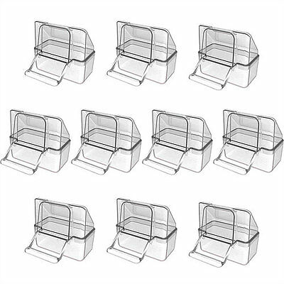 10X Pet Ting External Cage Feeder Drinker For Finch Canary Budgie Etc