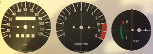 Yamaha Rd350Lc Ypvs Lc11 Speedometer And Tachometer Face Restoration Decals Mph