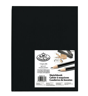 Sketchbook Royal & Langnickel - Premium Hardback Drawing Book - 100 gsm A4 or A5