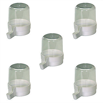 5X Pet Ting Clear Drinker 280cc for Finch Canary Budgie Aviary drinker