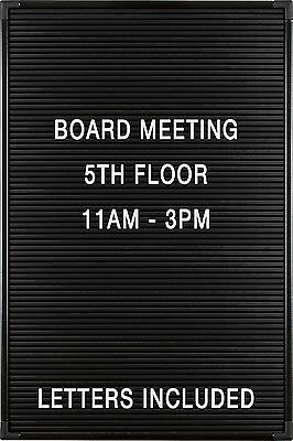 "Balt Essentials Black Letter Board with Letters 12""X18"" 84176"