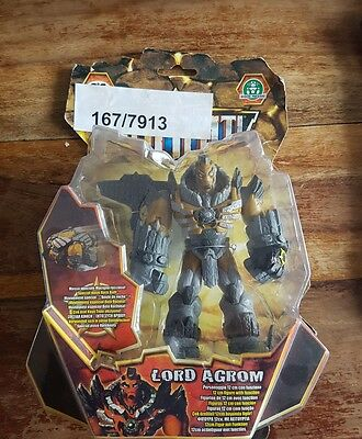 "GORMITI Lords of Nature LORD AGROM  6"" TV Toy monster Figure, Boxed Very Nice!"