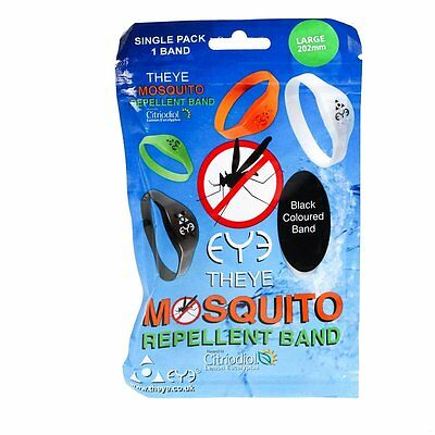 THEYE EYE Mosquito Repellent Band Waterproof Large 202mm Black Travel Camping UK