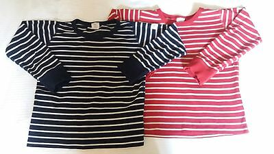 2 POLARN O PYRET striped t-shirts, age 4-6 years
