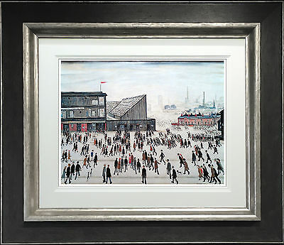 L S Lowry Signed Limited Edition Print 'going To The Match' Northern Art