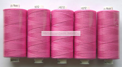 5 x CERISE MOON POLYESTER SEWING THREAD COTTON ( M212 )
