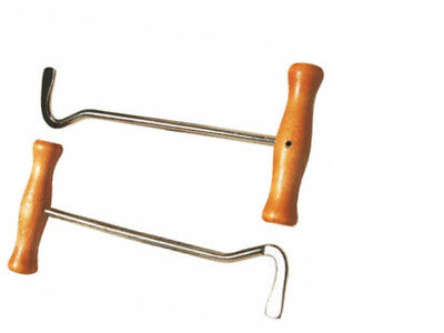Boot Pulls Hooks Wooden Handles Sold in Pairs FREE DELIVERY
