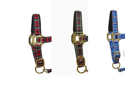 Tartan Check Headcollar With Poll Protection Pony/Cob/Full FREE DELIVERY
