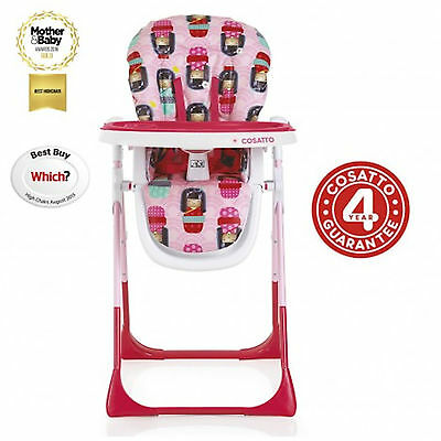 New Cosatto Noodle Supa Highchair Baby Feeding High Chair Kokeshi Smile