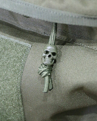 Pack10 Skull Cord Locks Stoppers Toggle Tactical Military Airsoft EMO Punk Olive
