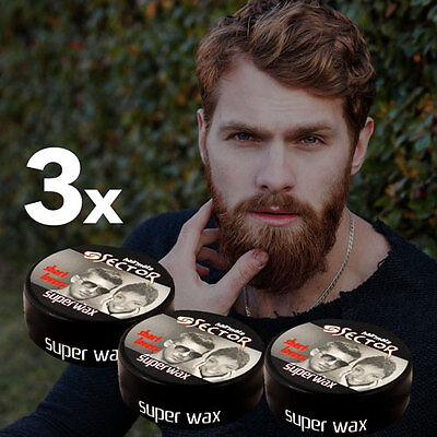 3x Sector Super Wax Wet Look 150ml, Bubblegum Wax, Super Wax, Hairmate Wax