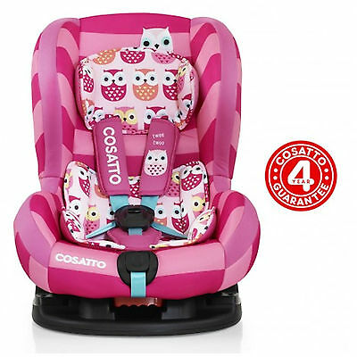 New Cosatto Moova 2 Group 1 Baby Car Seat Childs Carseat Twee Twoo Pink