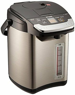 TIGER thermos electric kettle 3L black steam-less Noriko's VE PIG-A300-K