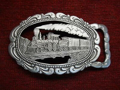 Vintage Western Style Steam Engine Belt Buckle - Gary Colin - 1977