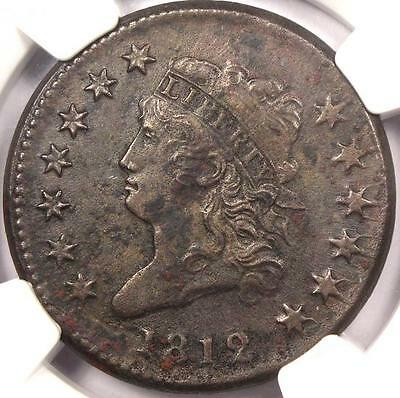 1812 Classic Liberty Head Large Cent 1C - NGC AU Details - Rare Key Date Penny