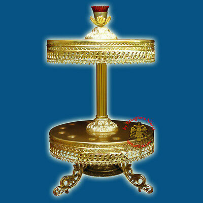 Orthodox Church Style Candle Holder. Aluminium Different Sizes, Styles & Heights