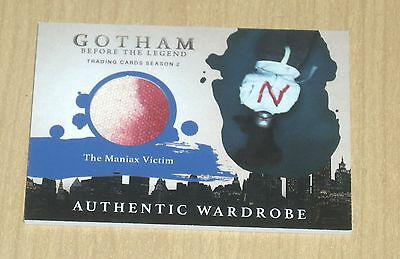 2017 Cryptozoic Gotham season 2 wardrobe costume MANIAX Victim N M10.3