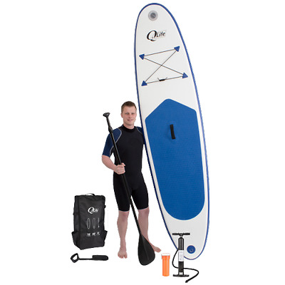 Kit Complet Paddle Stand Up Gonflable Sac + Pompe Manomètre + Pagaie + Leash