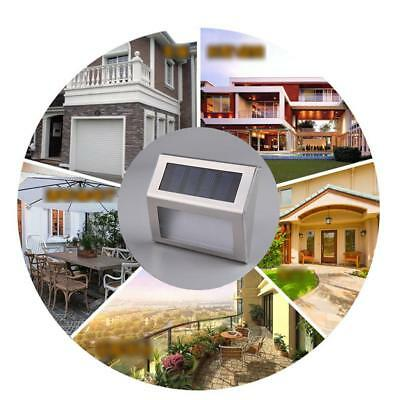Automatic Solar Light Sensor Outdoor Garden Wall LED Stairs Lamp Warm White