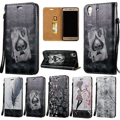 Leather W/ Strap Card Wallet Case Stand Flip Cover For Huawei Y5 II Y6 II Y6 Pro